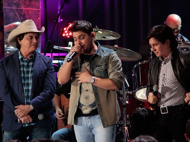 Chitãozinho & Xororó e Jorge & Mateus fazem parceria inédita na televisão (Foto: Marcos Mazini/Gshow)