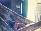Mariana Rios descansa em rede e diz: 'Meu dia'