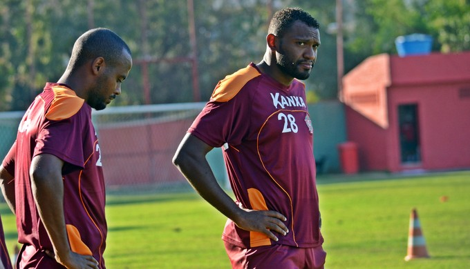 Ricardinho e Daniel Cruz Boa Esporte (Foto: Régis Melo)