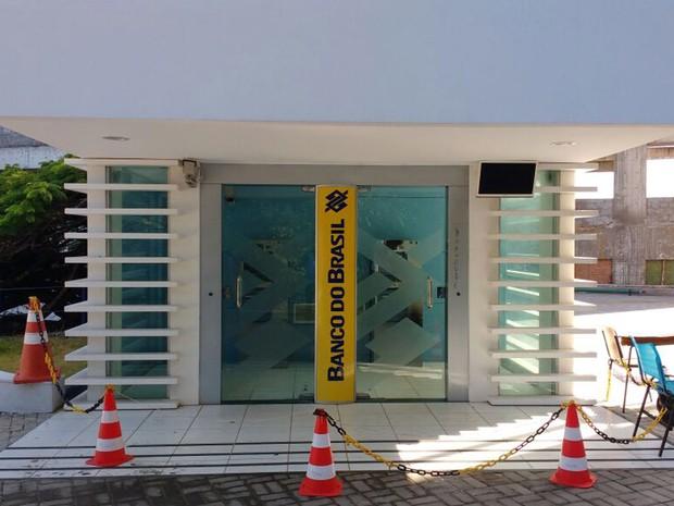 Módulo bancário da universidade foi isolado para perícia (Foto: Robel Sousa/TV Bahia)