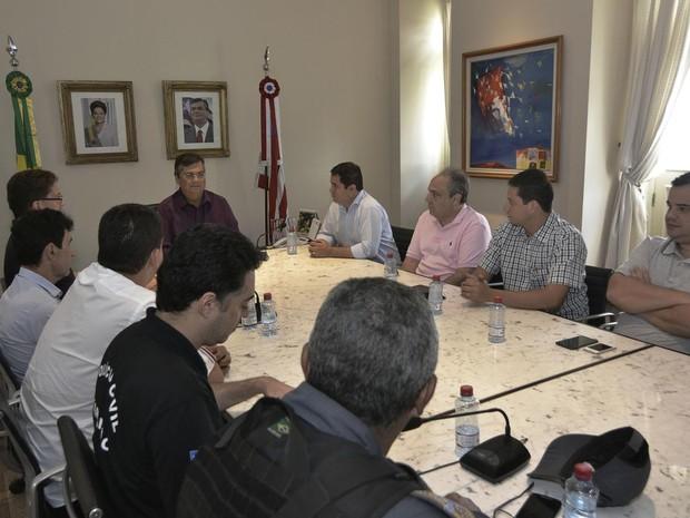 Cúpula da Segurança Pública se reuniu neste domingo (Foto: Divulgação / Secom)