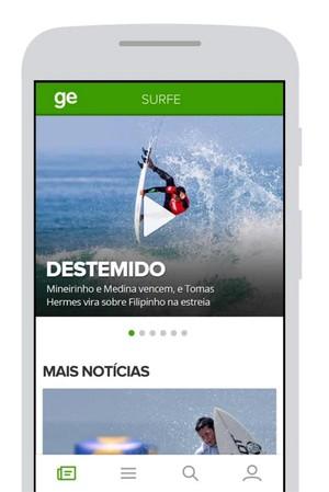 aplicativo GE (Foto: reprodução)