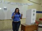 Suely Campos (PP) vota em Boa Vista (Marcelo Marques/ G1 RR)