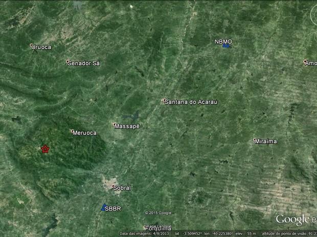 Região tem constantes tremores de terra devido à ranhura na crosta terrestre (Foto: Laboratório de Sismologia URFN/Google/Reprodução)