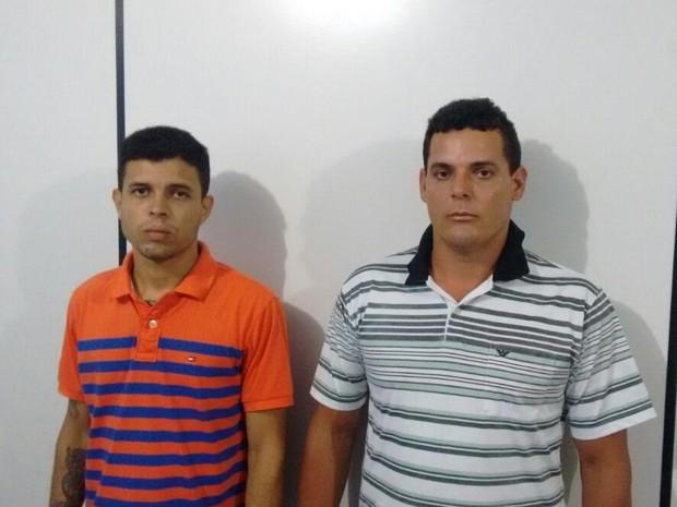 Jaciel Teles de Araújo (esq.) e Petrúcio Rocha de Morais Filho foram presos em Pilar (Foto: Divulgação/ PC)