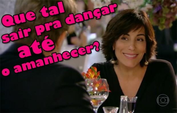 Roberta convida Felipe para esticar o jantar (Foto: Guerra dos Sexos / TV Globo)