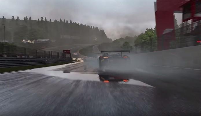 Poças no jogo representam a localização exata de poças dágua nas pistas reais (Foto: Divulgação/Microsoft)