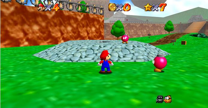 GoldenEye 007: múltiplas missões em uma fase foram influência de Super Mario 64. (Foto: Reprodução/Mario.Wikia)