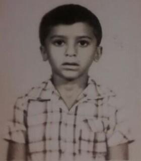 Marcos Teixeira quando era criança (Foto: Arquivo pessoal)