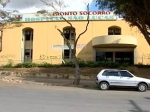 Frente do prédio onde funcionava o Hospital São Lucas (Foto: Reprodução/InterTV)