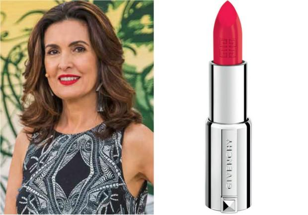 Fátima Bernardes usa batom Le Rouge, da Givenchy, que custa R$179 (Foto: TV Globo/Divulgação/Reprodução)