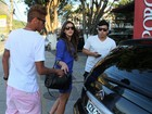 Neymar e Bruna Marquezine vão juntos a churrascaria no Rio