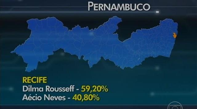 Confira a porcentagem de votos em cada região de PE no 2ª turno das eleições presidenciais