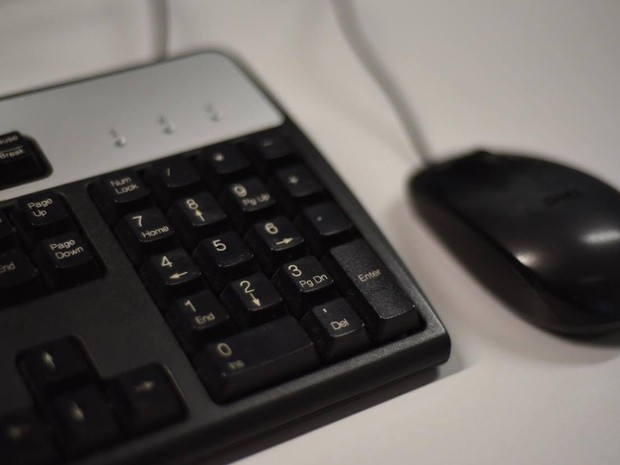 Mouse e teclado de computador (Foto: Alexandre Bastos/G1)