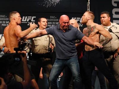 Pesagem UFC 202 McGregor Diaz (Foto: Evelyn Rodrigues)