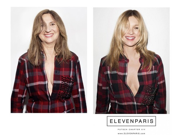 Nathalie encarna Katie Moss na campanha da Eleven Paris (Foto: Reprodução / Nathalie Croquet)