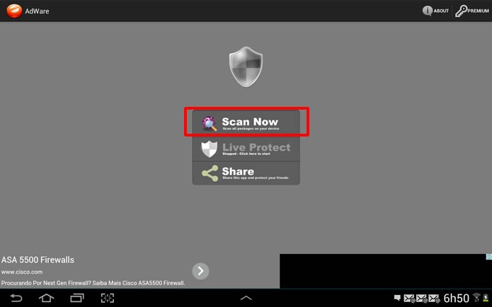 Instale o Adware e clique em Scan Now para fazer uma varredura mais detalhada pelos apps que possuem anúncios (Foto: Reprodução/Daniel Ribeiro)