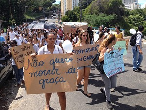 protesto (Foto: Gabriel Gonçalves/G1)
