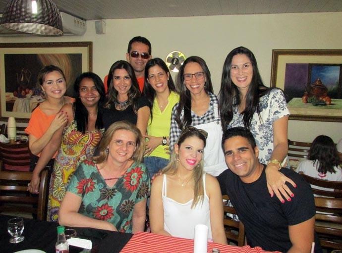 Jornalista da Rede Clube também estiveram no encontro (Foto: TV Clube)