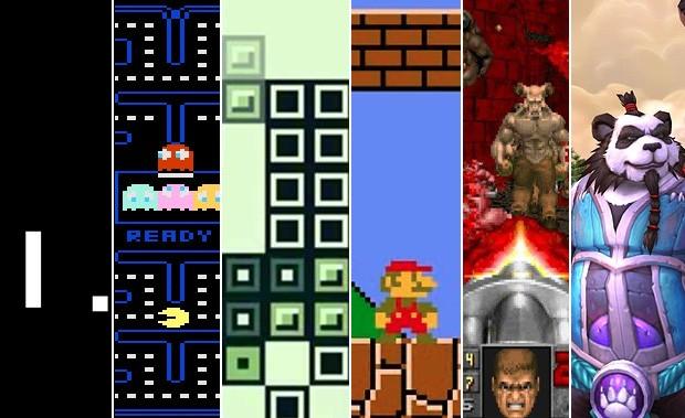 'Pong', 'Pac-man', 'Tetris', 'Super Mario bros.', 'Doom' e 'World of warcraft' entram para hall da fama de games (Foto: Divulgação)