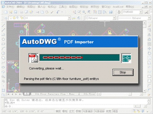 screenshot de AutoDWG PDF to DWG Converter 1.6