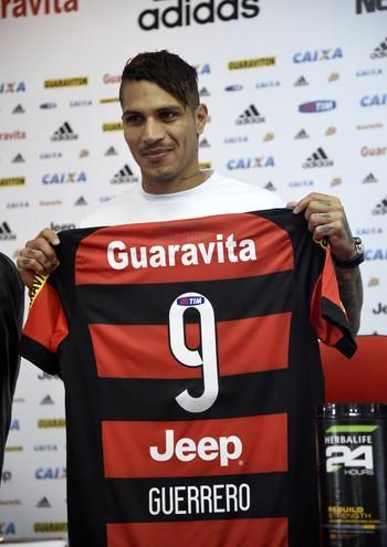 Guerrero apresentação Flamengo (Foto: André Durão)