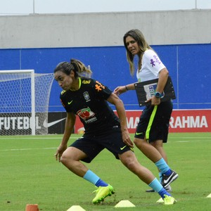 Marta e Emily Lima treino Manaus (Foto: Antônio Lima/Sejel)