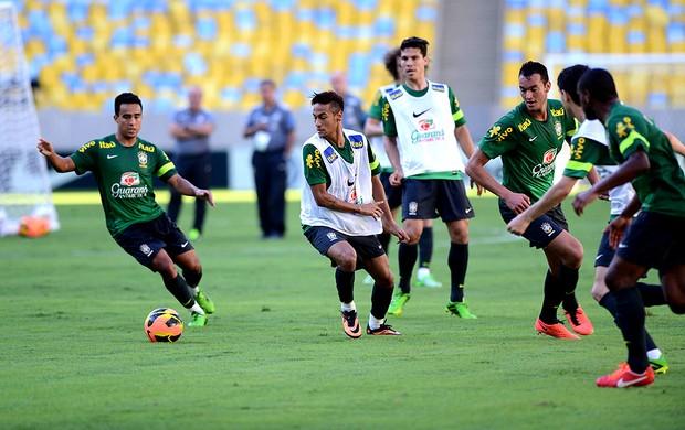 jogadores brasil treino maracanã (Foto: André Durão / Globoesporte.com)