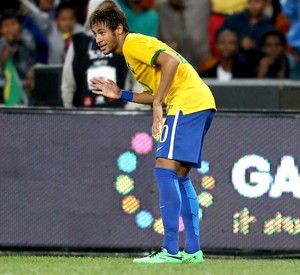 Neymar brasil África do Sul amistoso (Foto: Mowa Press)