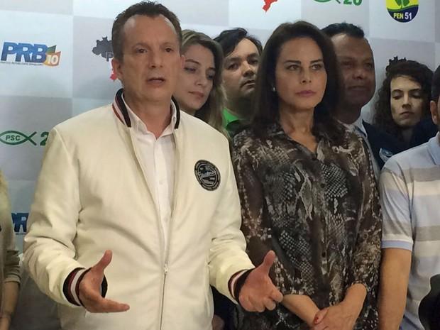 Celso Russomanno (PRB) discursa após derrota nas eleições para prefeito de São Paulo (Foto: Gabriela Gonçalves/G1)