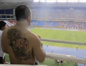 Torcedor tatuagem Vasco x Flamengo (Foto: Janir Junior / Globoesporte.com)