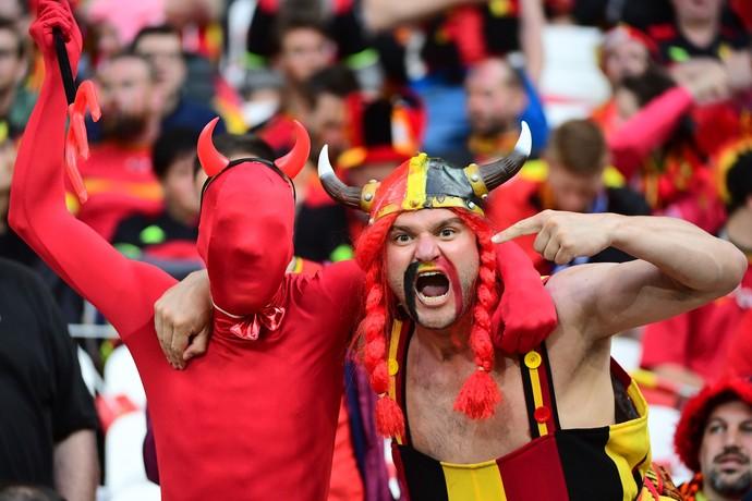Torcida Belgica x italia (Foto: AFP)