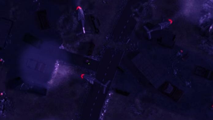 Em uma perspectiva aérea, Skynet: Rampage é um game que mistura muito bem ação e táticas furtivas (Foto: Divulgação)