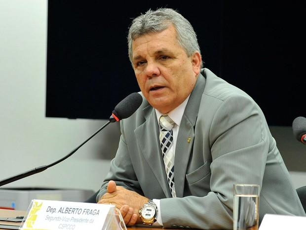 Deputado Alberto Fraga (DEM-DF) durante reunião de instalação de comissão na Câmara no início de maio (Foto: Luis Macedo/Câmara dos Deputados)