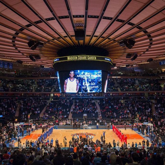 Homenagem Anthony Mason Madison Square Garden (Foto: Reprodução Instagram)