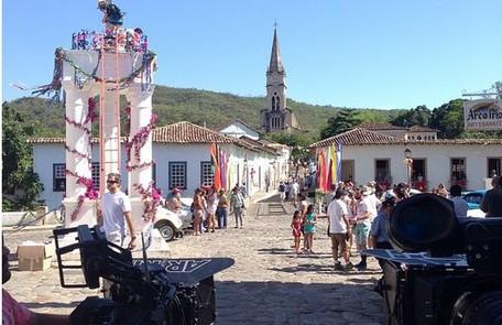 As gravações de Em família começaram por Goiás Velho Reprodução da internet