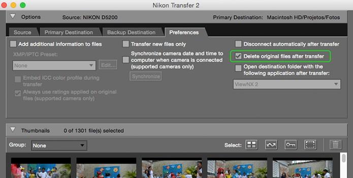 Programas de transferência de fotos podem apagar imagens do cartão após transferência para o computador (Foto: Reprodução/Adriano Hamaguchi)
