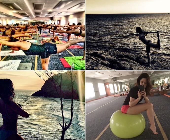Fernanda compartilha aulas de hot yoga nas redes sociais (Foto: Arquivo Pessoal)