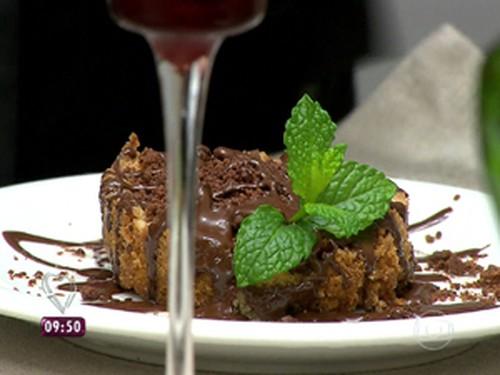 Torta de Pera com Chocolate
