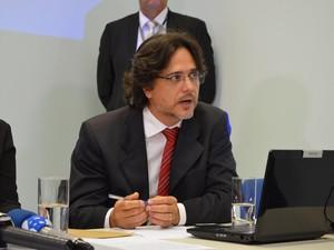 Promotor disse que não vai se intimidar diante da ameaça. Polícia Civil investiga o caso (Foto: Rogério Aderbal/G1)