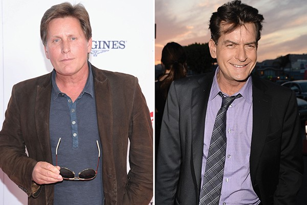 Emilio Estevez e Charlie Sheen (Foto: Getty Images)
