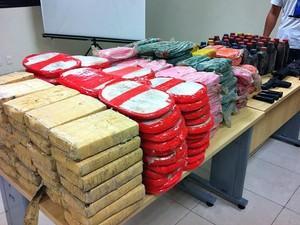 315 kg de droga foram encontrados com investigador, na Região Metropolitana de Manaus (Foto: Camila Henriques/G1 AM)