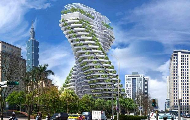O Tao Zhu Yin Yuan Tower terá 23 mil plantas (Foto: Vincent Callebaut Architectures)