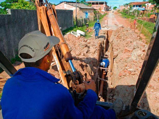 Obras de complementação da rede de esgoto da Sede de Camaçari serão iniciadas em abril (Foto: Agnaldo Silva/Divulgação)
