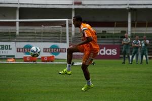 Breno Lopes no treino do Fluminense nas Laranjeiras (Foto: Bruno Haddad / Fluminense FC)