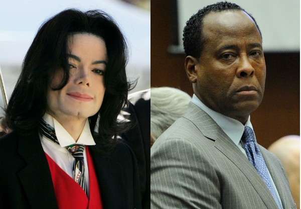 O músico Michael Jackson e o mérido Conrad Murray (Foto: Getty Images)