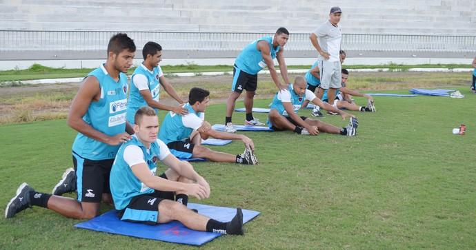 treino do botafogo-pb, botafogo-pb, bota-pb,  (Foto: Lucas Barros / GloboEsporte.com/pb)