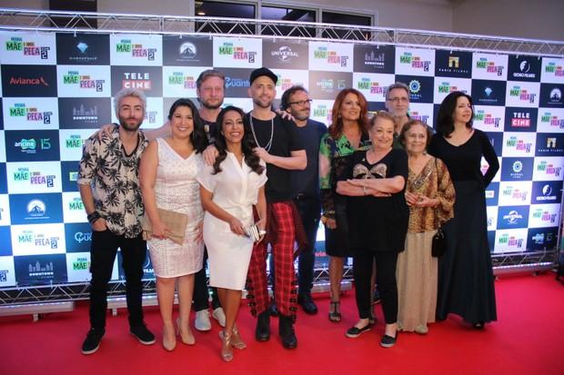 Elenco do filme Minha ~Mãe é uma Peça 2 comemora em pré-estreia (Foto: Thyago Andrade- Brazilnews)