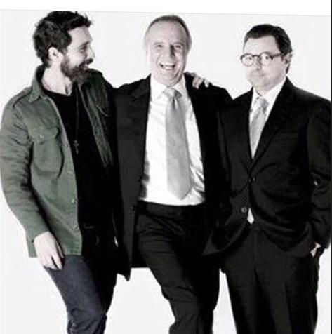 Rodrigo Bittencourt, Tato Gabus Mendes e Emilio Orciollo Netto (Foto: Arquivo pessoal)
