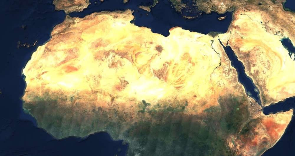 Norte da África (Foto: EOX/ Reprodução)